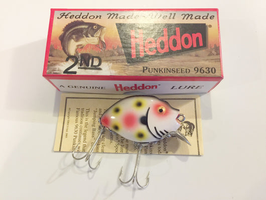 Heddon 9630 2nd Punkinseed S Spotted Strawberry Color New in Box