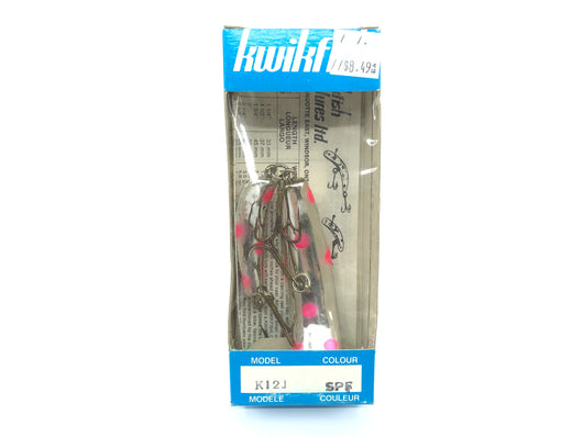 Pre Luhr-Jensen Kwikfish Jointed K12J SPF Sp Red Fl Spots Color New in Box Old Stock