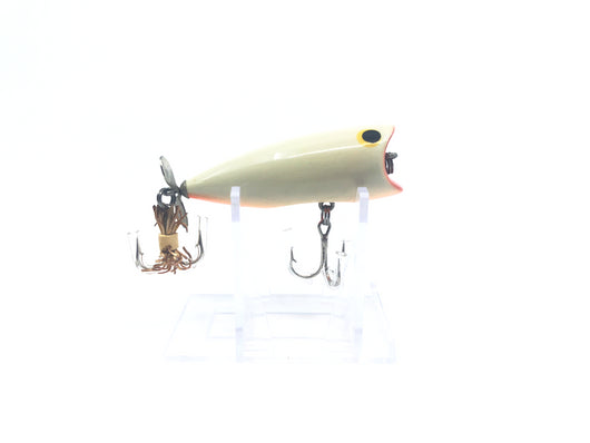 Bagley Pop'N B-2 Lure Pearl White with Orange Belly Color