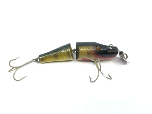 Creek Chub 2700 Baby Jointed Pikie Minnow in Perch Color 2701 Wooden Lure Glass Eyes