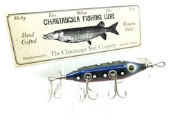 Chautauqua Special Order Wooden 5 Hook Minnow in Red Belly and Blue Scale Color