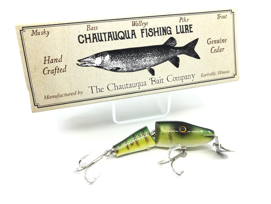 Chautauqua Jointed Lil' Piko Plug Green Perch Color