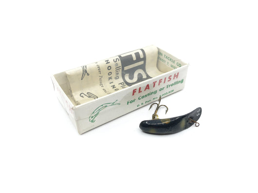 Vintage Helin Flatfish F4 BL Black Color with Box and Paperwork