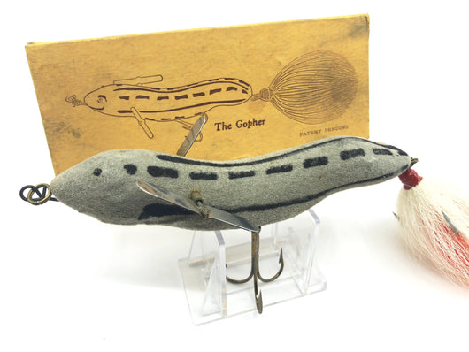 Deuster Gopher Lure with Box Antique Wisconsin Musky Lure
