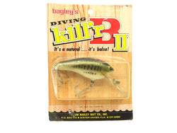 Bagley Diving Kill'r B2 DKB2-LB4 Little Bass on White Color New on Card Old Stock