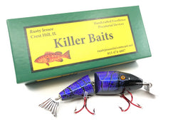 Rusty Jessee Killer Baits Creek Chub Wigglefish Marbled Purple Black Color