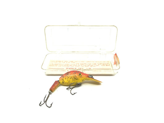 Vintage Hubbard Sparkle Tail Yellow and Red with Box