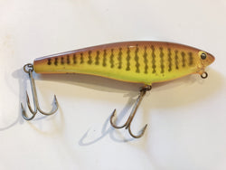 Bagley B-Flat 6 Lure DC9 Dark Crayfish on Chartreuse Color
