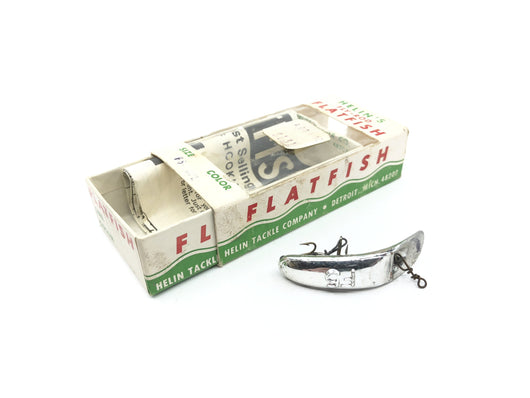 Vintage Helin Flatfish F5 SPL Silver Plated Color with Box and Paperwork