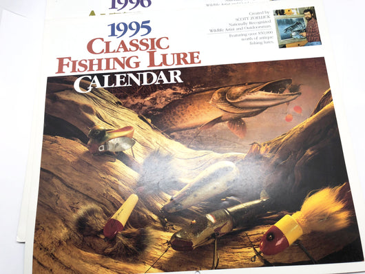 Three Fishing Lure Calendars One Price