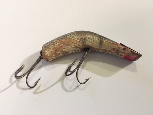 Kautzky's Lazy Ike Black Stripe Scale Wooden Lure