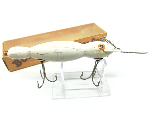 Vintage Wooden Bomber Water Dog with Box White Color