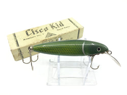Wallsten Tackle Cisco Kid Green Shiner Color with Box Signed by Art Wallsten