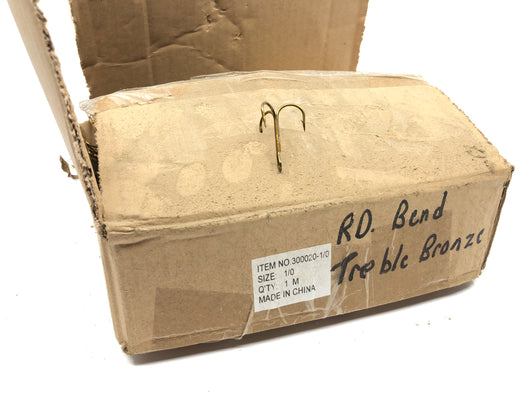 Huge Box of Treble Hooks Rd Bend Bronze Ref 300020-1/0