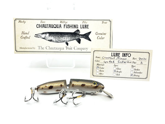 Chautauqua Wooden Crankbait Minnow Spotted Sucker 2020 Color Custom Lure