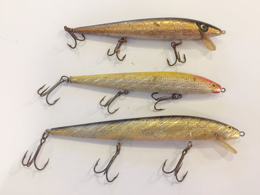 Rapala Lures Lot of 3 Old Foil Type