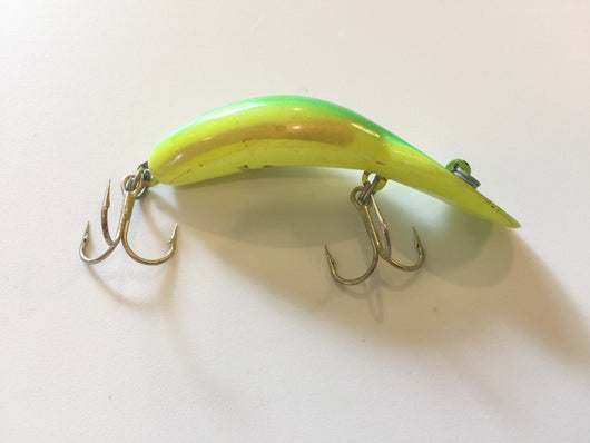 Heddon Tadpolly Spook Neon Green and Yellow Clatter Tad