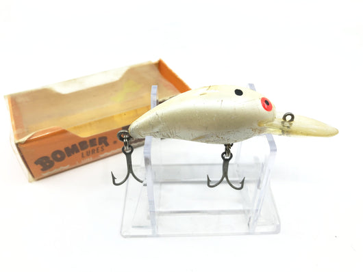 Bomber Model A with Box White Minnow