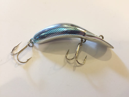 Heddon Tadpolly Clatter Tad Blue Silver Scale Pattern