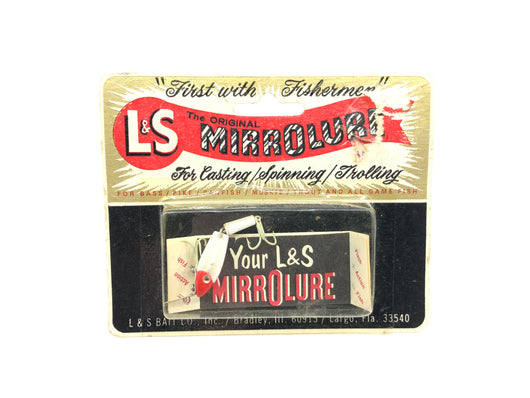 L & S Panfish Size MirroLure on Card Red and White