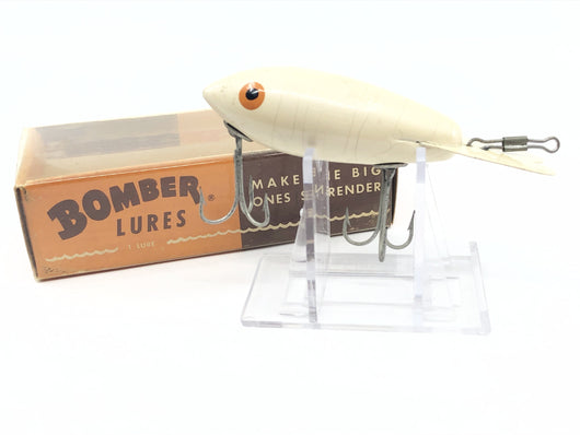 Vintage Wooden Bomber 601 White with Box