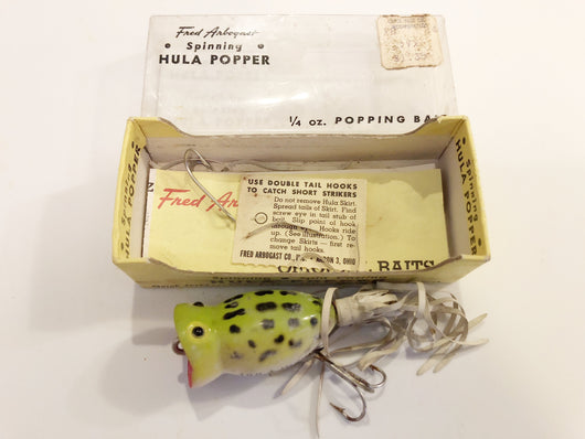 Arbogast Hula Popper 771 Spinning in Box