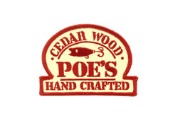 Poe's Cedar Wood Hand Crafted Lures Vintage Fishing Patch