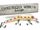 "Jointed Chautauqua 8"" Minnow Musky Lure Special Order Color ""Strawberry"""