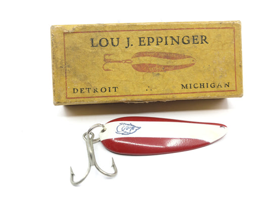 Vintage Eppinger Dardevlet Red White Lure in Two Piece Cardboard Box