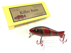 Rusty Jessee Killer Baits Bass Caster Model in Red Bar Perch Color 2018