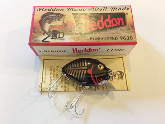 Heddon 9630 Punkinseed BKGBR Black and Gold Shore Color New in Box