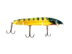 Crane 206 Musky Lure Green Perch Yellow Belly Color