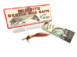Millsite Beetle Bug Bait with Box and Extra Spinners