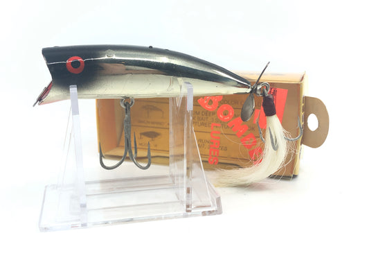 Bomber Popper Black Metachrome with Tail and Box