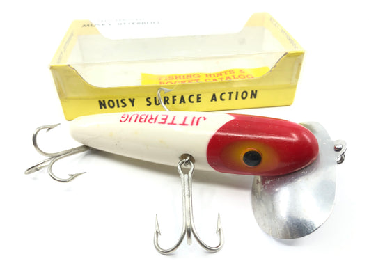 Arbogast Musky Jitterbug Red and White Color in Box