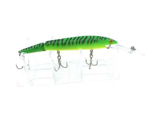 Rebel Jointed Spoonbill Minnow Green with Black Stripes