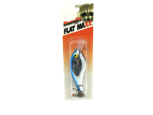Bandit Flat Maxx Shallow Chrome Blue Back Color New on Card