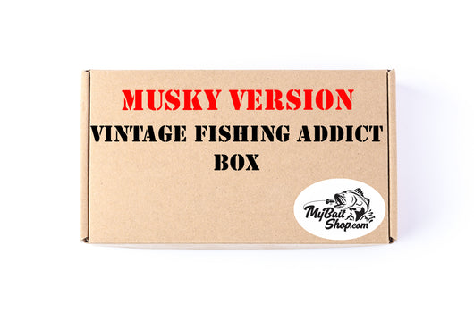 MUSKY VERSION  Vintage Fishing Addict Box (Approx $135+ Value)