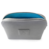 Silver Leather Amenity Bag