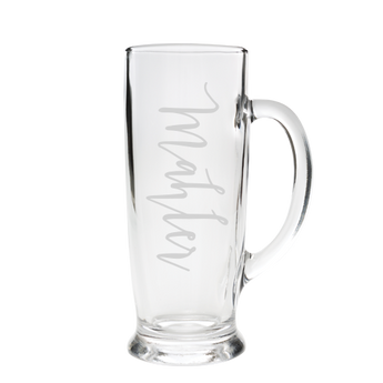 Beer Stein Glass - Mahler