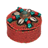 Africa - Tribal Ritual Treasure Box - Cowrie Shell and Beads