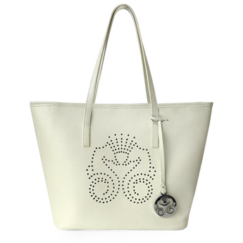 Ivory Leather Tote