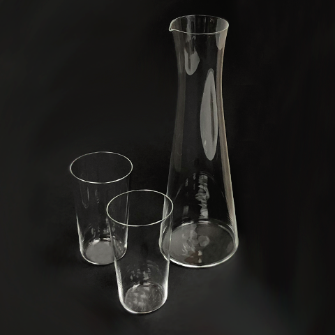 Japan - Sake Decanter and Set of (2) Sake Glasses