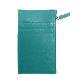 Slim Travel Key Card Leather Wallet - Teal