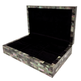 Mother of Pearl Jewelry Box Black