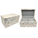 Mother of Pearl Jewelry Box Ivory