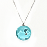 Colombia - Full Moon Crystal Teal Necklace