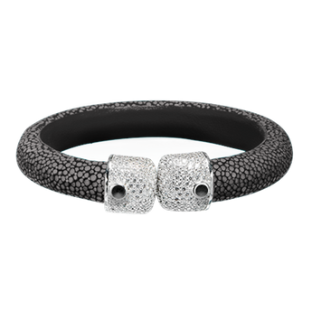 Shagreen Leather Bangle Bracelet