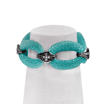 Shagreen Leather Chain Bracelet