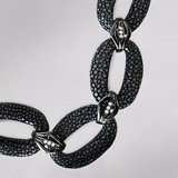 Shagreen Leather Necklace